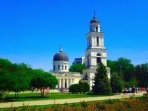 大教堂在摩尔多瓦的首都的中心 图库摄影