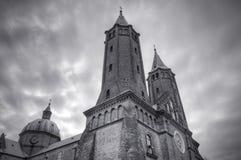 大教堂在普沃茨克,波兰 免版税库存照片