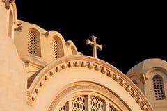 大教堂在有黑色的开罗 免版税库存照片