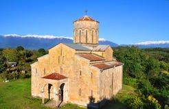 大教堂在村庄Mokva 阿布哈兹 库存图片