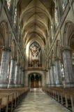大教堂在林茨,有历史器官的奥地利 免版税库存图片
