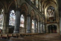 大教堂在林茨,有历史器官的奥地利 免版税库存照片