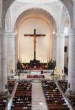 大教堂在梅里达,墨西哥 库存照片