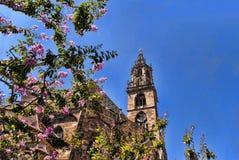 大教堂在波尔查诺南提洛尔意大利 免版税库存照片