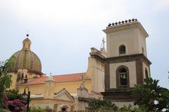 大教堂在波西塔诺,意大利 免版税图库摄影