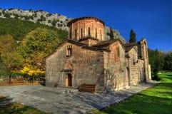 大教堂在特里卡拉,希腊附近的波尔塔Panagia 免版税库存照片