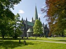 大教堂在特隆赫姆,挪威, 库存图片