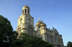 大教堂在瓦尔纳保加利亚 免版税库存照片
