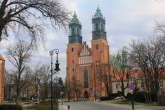 大教堂在美丽的老市波兹南,波兰 免版税库存图片