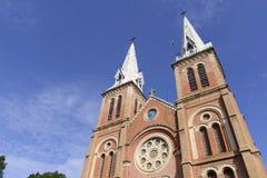 大教堂在胡志明市 免版税库存照片