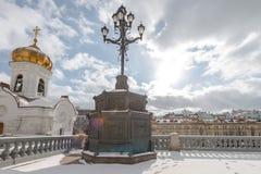大教堂在莫斯科俄罗斯2018年3月 库存照片