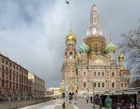 大教堂在莫斯科俄罗斯2018年3月 免版税库存照片