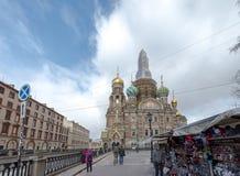 大教堂在莫斯科俄罗斯2018年3月 免版税库存图片