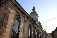 大教堂在萨尔布吕肯 库存图片