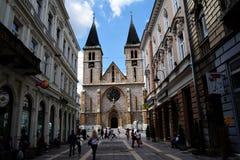 大教堂在萨拉热窝 免版税库存图片