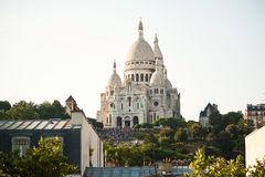 大教堂在蒙马特的Sacre Couer在巴黎 图库摄影