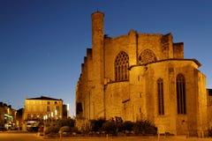 大教堂在蓝色小时 图库摄影