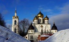 大教堂在镇堡垒在Dmitrov 库存照片