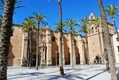 大教堂在阿尔梅里雅 免版税图库摄影