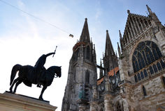 大教堂在雷根斯堡,德国,欧洲 免版税库存照片
