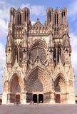 大教堂在香宾地区在法国 免版税库存照片