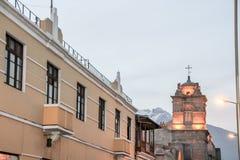 大教堂在Ariquippa秘鲁 免版税图库摄影