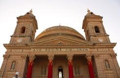大教堂在Mgarr 免版税库存照片