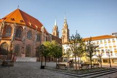 大教堂在Nurnberg,德国 库存照片