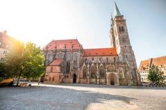 大教堂在Nurnberg,德国 免版税图库摄影