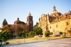 大教堂城市城市居民墨西哥 库存图片