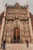 大教堂城市墨西哥 免版税库存照片