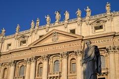 大教堂城市彼得s st梵蒂冈 免版税库存图片