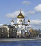 大教堂基督・莫斯科俄国救主 莫斯科 库存照片