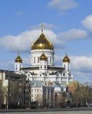 大教堂基督・莫斯科俄国救主 莫斯科 图库摄影