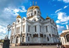 大教堂基督・莫斯科俄国救主 免版税库存图片
