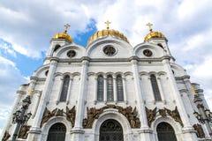 大教堂基督・莫斯科俄国救主 库存图片