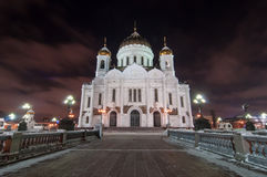 大教堂基督・莫斯科俄国救主正方形视图 库存图片