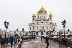 大教堂基督・莫斯科俄国救主 免版税图库摄影