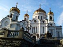 大教堂基督・莫斯科俄国救主 库存照片