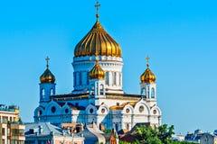 大教堂基督・莫斯科俄国救主 免版税库存照片