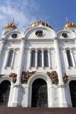 大教堂基督・莫斯科晚上俄国救主场面 免版税库存图片