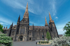 大教堂墨尔本帕特里克s st 免版税库存图片