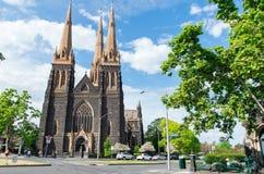 大教堂墨尔本帕特里克s st 免版税库存照片