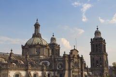 大教堂墨西哥df 免版税库存图片