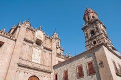大教堂墨西哥michoacan墨瑞利亚 免版税图库摄影