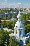 大教堂复杂彼得斯堡smolny st 免版税库存照片