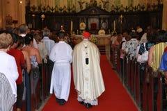 大教堂复活节哈瓦那服务 免版税库存照片