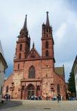 大教堂大教堂在巴塞尔 库存图片