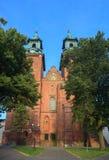 大教堂大教堂在格涅兹诺,波兰 免版税库存照片