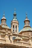 大教堂大教堂夫人我们的柱子 免版税库存图片